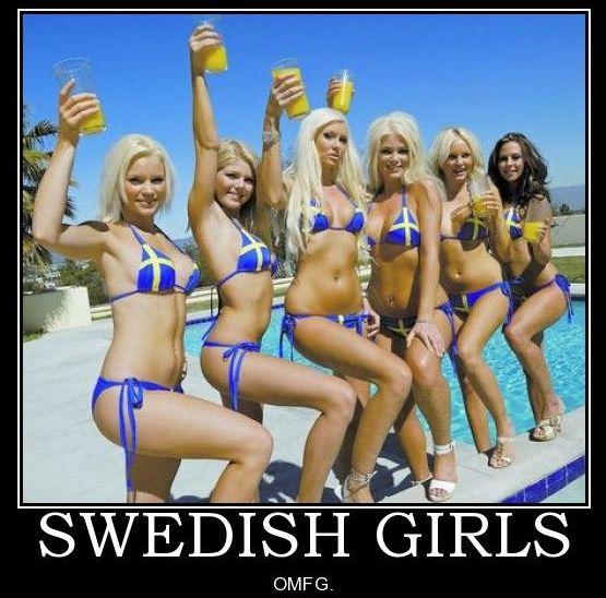 Something is. Swedish bikini team girls