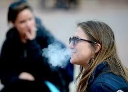 smoking outdoors